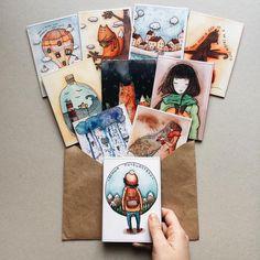 #envelope #illustration #art #drawing #watercolors #cover #cute #nice #colors