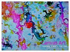 Canvas Art for Preschoolers with liquid watercolors, glue, salt and flower petals!