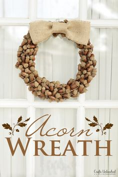 Fall Rustic Acorn Wreath - CraftsUnleashed.com