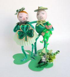 Vintage Style St Patricks Day Decoration Irishman by teresatudor, $21.00