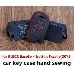 fit for BUICK Excelle 4 button Excelle(2015) Genuine leather car key case cover Hand sewing DIY the lowest price  #Affiliate
