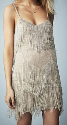 Beaded fringe tiered dress | Kate Moss for topshop http://rstyle.me/n/iytqvpdpe