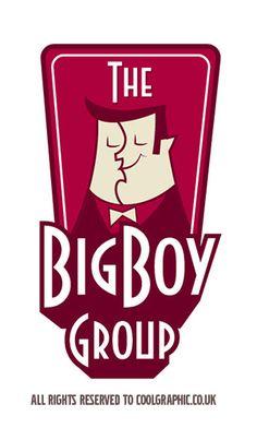 Retro Cartoon Logo Design Retro illustration by Coolgraphic