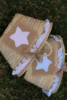 Cestas Yute.- con Estrella Lace Bag, Purse Patterns, Summer Bags, New Bag, Girl With Hat, Diy And Crafts, Basket, Couture, Little Girls