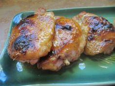 Maple Dijon Chicken Thighs - another great recipe on rantingchef.com