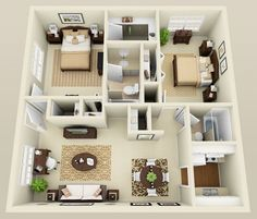 small home plans design two bedroom apartment design ideas #BedroomInteriorDesign