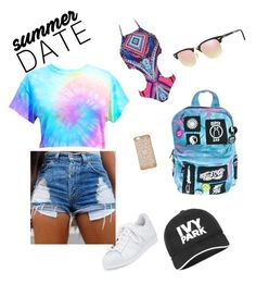"""""""Summer Lovin'"""" by trenderchicxx ❤ liked on Polyvore featuring adidas, WithChic, Current Mood, Ray-Ban, Ivy Park, beach and summerdate"""