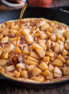 Souffle Pancake with Cinnamon Apples Recipe - RecipeChart.com