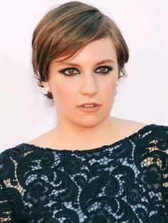Lena Dunham at the 64th Primetime Emmy Awards at Nokia Theatre L.A.