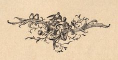 Antique Printers Ornament- Flourishes & Birds - The Graphics Fairy