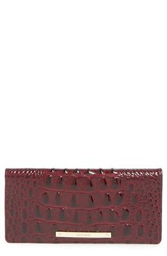 Brahmin+'Ady'+Croc+Embossed+Continental+Wallet+available+at+#Nordstrom