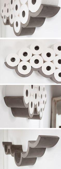 Wall Art Toilet Paper Cloud Shelf
