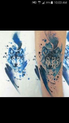 Watercolor wolf