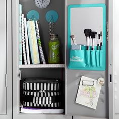 "Teal Beauty Board- ""Hello Beautiful"" #pbteen Thank goodness for magnetic paint!"