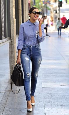 Olivia Culpo looking sexy in very tight high-waisted jeans