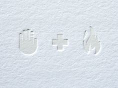 white emboss + white ink / / repinned on toby designs
