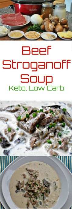 Beef Stroganoff Soup via @PeaceLoveLoCarb