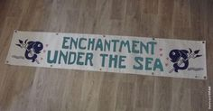 Back To The Future (1985) movie props banner enchantment under the sea