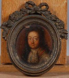 Ecole française vers 1710 Portrait d un gentilhomme en habit gris