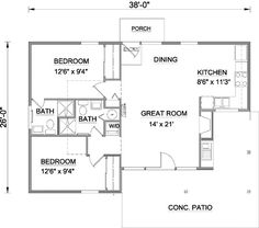 Plan 12701MA: Retreat With Vaulted Living Area