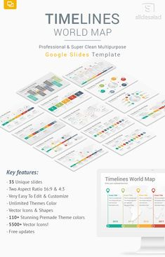 30 best google slides templates images on pinterest decks timelines world map diagrams google slides template gumiabroncs Image collections