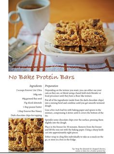 No Bake Protein Bars with Forever Lite Ultra & Forever Bee Honey #ForeverTreats