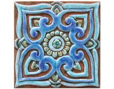 Decorative tile with mandala design // Ceramic tile // by GVEGA