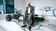 Big wheel: Ron Tauranac with his winning design, the 1966 Brabham BT19.