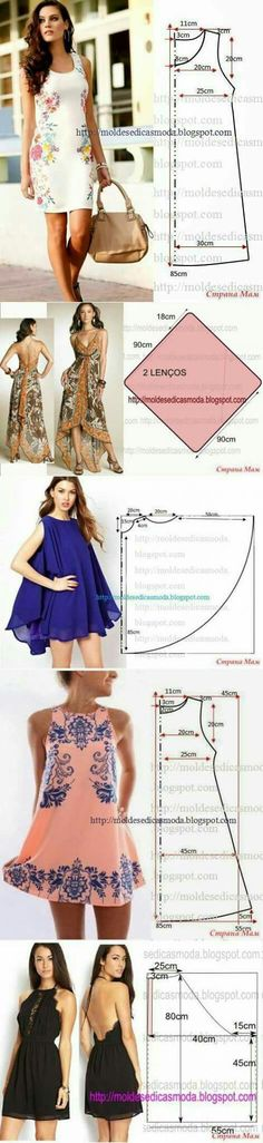Crochet Vestidos Patrones 36 Ideas For 2019 Diy Clothing, Sewing Clothes, Clothing Patterns, Dress Patterns, Sewing Patterns, Dress Sewing, Sewing Coat, Easy Patterns, Pattern Skirt