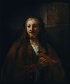 Christ with a Staff (could also be the Apostle James the Less) - Rembrandt van Rijn. Oil on canvas. Metropolitan Museum of Art, New York City NY, USA. Rembrandt, Marc Chagall, Painting Prints, Canvas Prints, Art Prints, Painting Canvas, List Of Paintings, Life Of Jesus Christ, Web Gallery Of Art