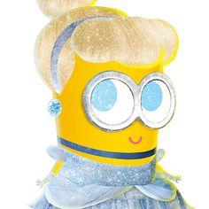 Disney Princess Minions Cinderella minion print disney