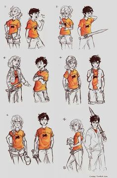 Annabeth and Percy growing up