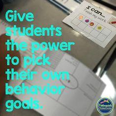 My classroom community changed SO much once students started picking their own behavior goals. Behavior Goals, Student Behavior, Behaviour Management, Classroom Behavior, Special Education Classroom, Classroom Management, Classroom Attendance, Classroom Discipline, Behavior Charts