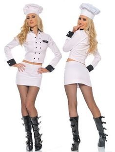 Sexy Chef Halloween Costumes for Ladies