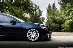 2015 Mazda 3 Blue BD-3 19-inch staggered silver