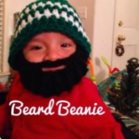 Kids Beard Beanie - Newborn to 6 months - via @Craftsy