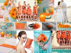 Blue and Orange Wedding Ideas  P.s Thanks for the idea Shantel! You are awesome
