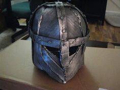 Happily Ever Crafter: DIY: Building a Medieval Helmet Out of Cardboard