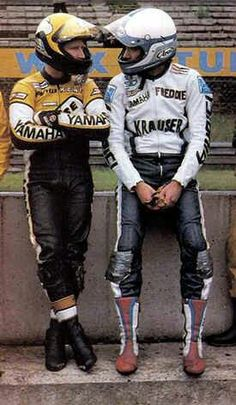Kenny Roberts and Freddie Spencer
