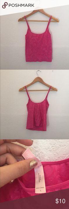 Victoria secret cami pink Pink paisley cami Victoria's Secret Tops Camisoles