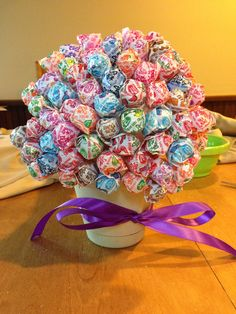 dollar tree baby shower ideas | Lollipop Tree as a Baby Shower Decoration