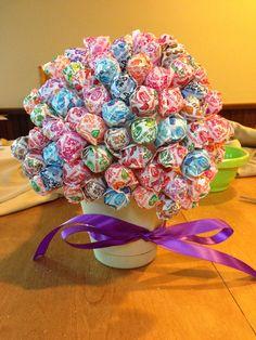 dollar tree baby shower ideas | Lollipop Tree as a Baby Shower Decoration