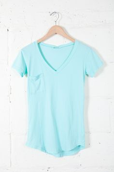 Mint V-Pocket Tee