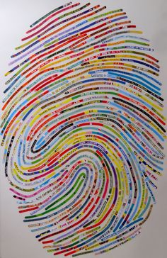 Look closer: the lines on this thumbprint are book titles! You can get your own thumbprint poster made with your favourite books!