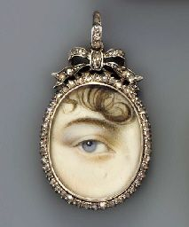 Christie's. (2002). ENGLISH SCHOOL, CIRCA 1810 -A right eye with blue iris, curling lock of brown hair. Retrieved November 29, 2015, from http://www.christies.com/lotfinder/lot/english-school-circa-1810-a-right-eye-4020357-details.aspx?from=salesummary&intObjectID=4020357&sid=718acb30-5ae0-46f2-a1a9-5a4e6d12a7e5