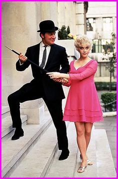 Patrick Macnee and Linda Thorson as John Steed and Tara King in the Avengers