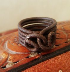 bale wire ring...love it!  this looks like something travis would have made me when we were dating