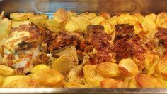 Bacalhau no Forno com Broa Crocante
