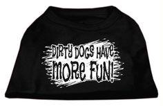 Dirty Dogs Screen Print Shirt Black Med (12)