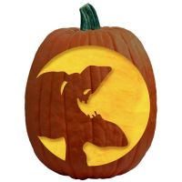 """One of 700+ FREE stencils for pumpkin carving and more! www.pumpkinlady.com """"Tee Hee!"""" #FreePumpkinCarvingPattern"""